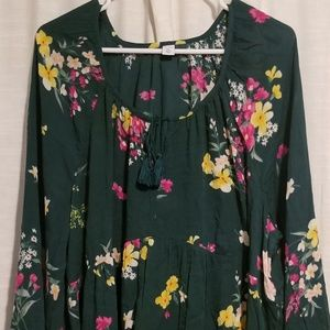 Old Navy Flowing Flower Blouse